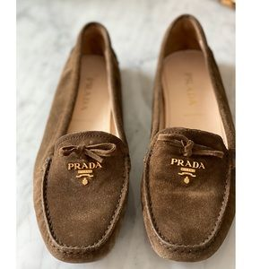 PRADA - suede driving loafer